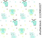 seamless pattern on white... | Shutterstock .eps vector #1115081027