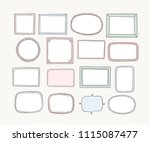hand drawn vector frames and... | Shutterstock .eps vector #1115087477