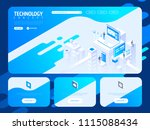 technology creative website... | Shutterstock .eps vector #1115088434