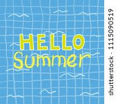 hello summer poster.... | Shutterstock .eps vector #1115090519