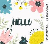 floral frame for design save... | Shutterstock .eps vector #1115090525