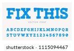 vector font made of black... | Shutterstock .eps vector #1115094467