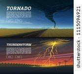 set of natural disaster or...   Shutterstock .eps vector #1115096921