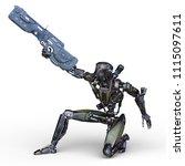 3d cg rendering of a battle... | Shutterstock . vector #1115097611