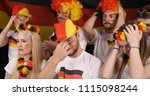 upset group of fans people or... | Shutterstock . vector #1115098244