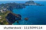 aerial view of ponza  island of ... | Shutterstock . vector #1115099114