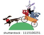 crazy cheerful company of... | Shutterstock .eps vector #1115100251