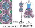 vector fashion illustration ... | Shutterstock .eps vector #1115101127