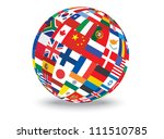 sphere with flags of the world... | Shutterstock . vector #111510785