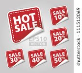 eps10 vector  hot sale tags... | Shutterstock .eps vector #111512069