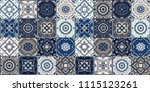talavera pattern.  indian... | Shutterstock .eps vector #1115123261