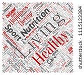 vector conceptual healthy... | Shutterstock .eps vector #1115123384