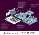 isometric flat 3d abstract... | Shutterstock .eps vector #1115127911