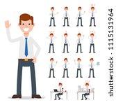 businessman working character...   Shutterstock .eps vector #1115131964