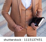 part of the body. men's fashion.... | Shutterstock . vector #1115137451
