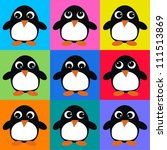 seamless penguin pattern