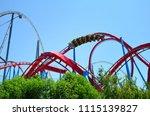 big roller coaster in port... | Shutterstock . vector #1115139827