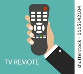 tv remote control. distance... | Shutterstock .eps vector #1115142104