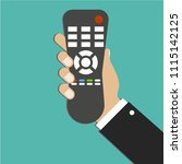tv remote control. distance... | Shutterstock .eps vector #1115142125