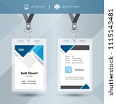 blue event staff id card set... | Shutterstock .eps vector #1115143481