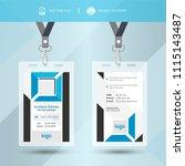 blue event staff id card set... | Shutterstock .eps vector #1115143487