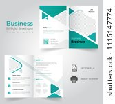 business bi fold brochure or... | Shutterstock .eps vector #1115147774