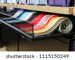set of different color skinny... | Shutterstock . vector #1115150249