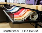 set of different color skinny... | Shutterstock . vector #1115150255