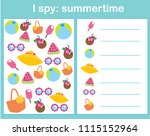i spy game for toddlers. find... | Shutterstock .eps vector #1115152964