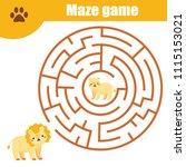 maze children game  help the...   Shutterstock .eps vector #1115153021