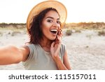 close up of cheerful young... | Shutterstock . vector #1115157011