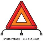 red warning triangle emergency... | Shutterstock .eps vector #1115158835