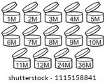 expiration date after opened... | Shutterstock .eps vector #1115158841