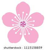 cherry blossom flower vector... | Shutterstock .eps vector #1115158859