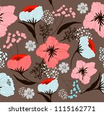 flowers drawing  sketch for... | Shutterstock .eps vector #1115162771