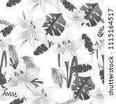 seamless flower garder liliya...   Shutterstock .eps vector #1115164517