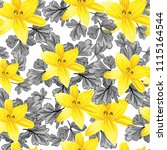 seamless flower garder liliya... | Shutterstock .eps vector #1115164544