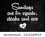 fitness motivation quote | Shutterstock . vector #1115164919