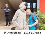 young highschool student buying ... | Shutterstock . vector #1115167865