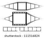 filmstrip frames set | Shutterstock .eps vector #111516824