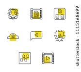 modern technology icons set...