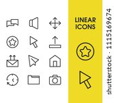 internet icons set with star ...