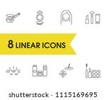 cosmetics icons set with...
