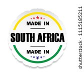 made in south africa flag... | Shutterstock . vector #1115185211