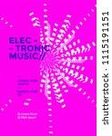 electronic music poster design. ... | Shutterstock .eps vector #1115191151