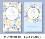 vector wedding invitations with ... | Shutterstock .eps vector #1115192837