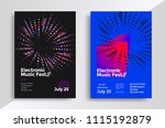 electronic music fest posters... | Shutterstock .eps vector #1115192879