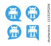 chat bot  robot in speech... | Shutterstock .eps vector #1115195204