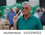 socialist party supporters wave ... | Shutterstock . vector #1115196521