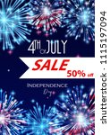 4th of july  american...   Shutterstock .eps vector #1115197094